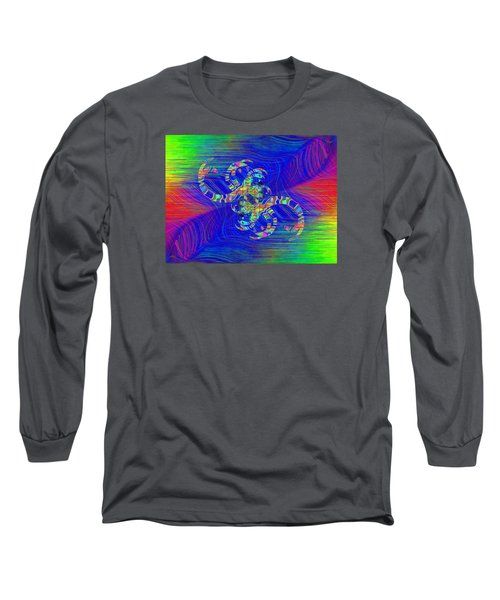 Long Sleeve T-Shirt featuring the digital art Abstract Cubed 362 by Tim Allen