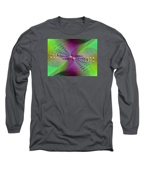 Long Sleeve T-Shirt featuring the digital art Abstract Cubed 370 by Tim Allen