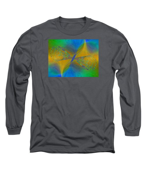 Long Sleeve T-Shirt featuring the digital art Abstract Cubed 380 by Tim Allen