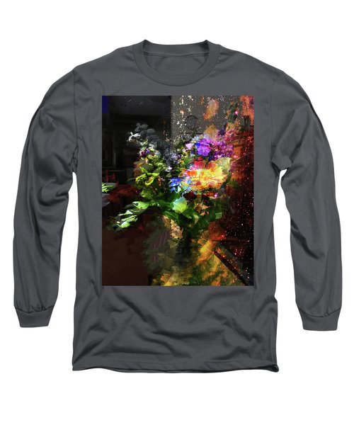Abstract Flowers Of Light Series #17 Long Sleeve T-Shirt