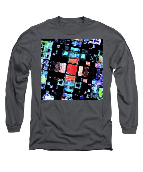 Long Sleeve T-Shirt featuring the digital art Abstract Geometric Art by Phil Perkins