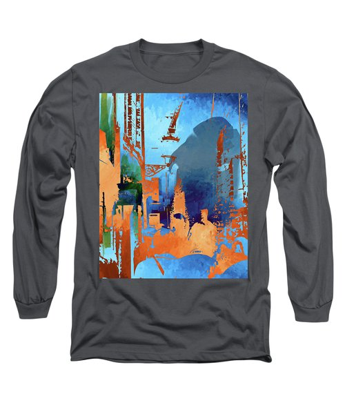 Abstract  Images Of Urban Landscape Series #1 Long Sleeve T-Shirt