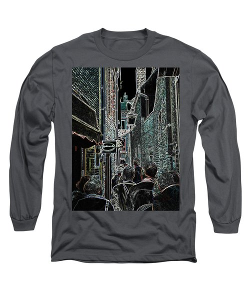 Abstract  Images Of Urban Landscape Series #12b Long Sleeve T-Shirt