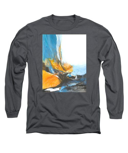 Abstract In Motion Long Sleeve T-Shirt by Glory Wood