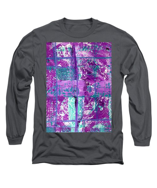 Abstract In Purple And Teal Long Sleeve T-Shirt