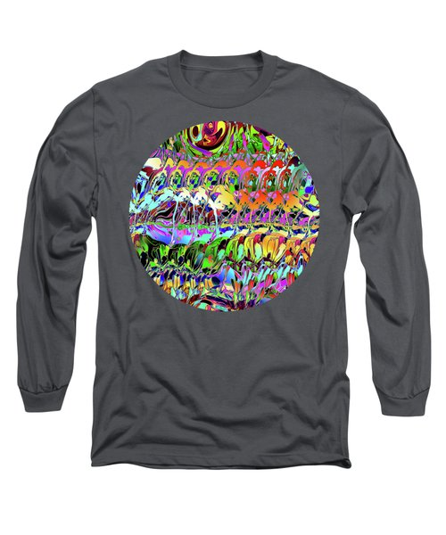 Abstract Layers Of Color Long Sleeve T-Shirt