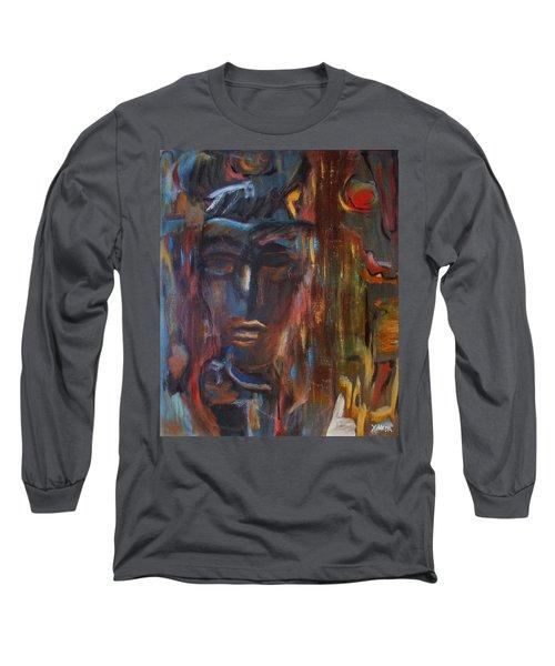 Abstract Man Long Sleeve T-Shirt