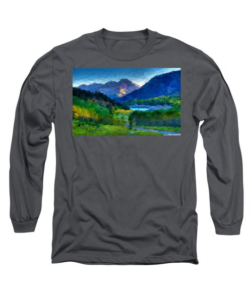 Abstract Mountain Vista  Long Sleeve T-Shirt by Anthony Fishburne