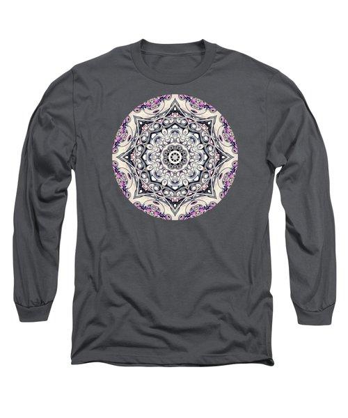 Abstract Octagonal Mandala Long Sleeve T-Shirt