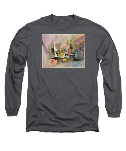 Abstract Opus 4 Long Sleeve T-Shirt by Larry Hamilton