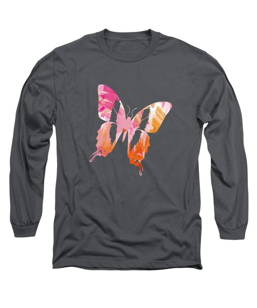 Abstract Paint Pattern Long Sleeve T-Shirt