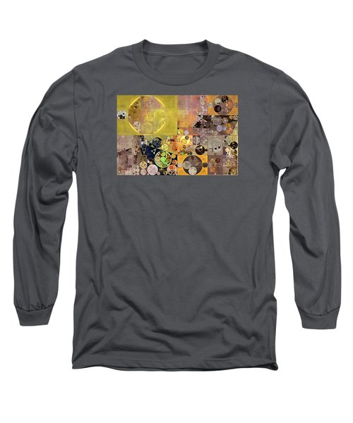 Abstract Painting - Pale Brown Long Sleeve T-Shirt