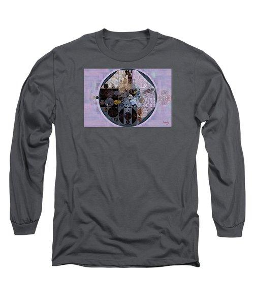 Long Sleeve T-Shirt featuring the digital art Abstract Painting - Pastel Purple by Vitaliy Gladkiy