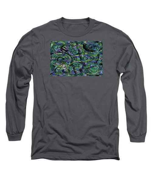 Abstract Pattern 5 Long Sleeve T-Shirt by Jean Bernard Roussilhe