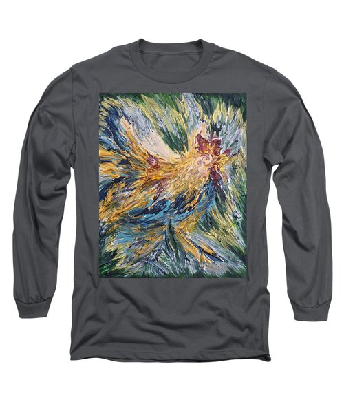 Abstract Guam Rooster Long Sleeve T-Shirt