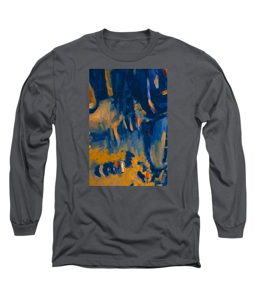 Long Sleeve T-Shirt featuring the painting Abstract Sail by Nop Briex