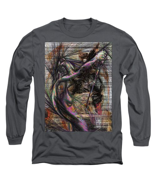 Abstract Sketch 1334 Long Sleeve T-Shirt by Rafael Salazar