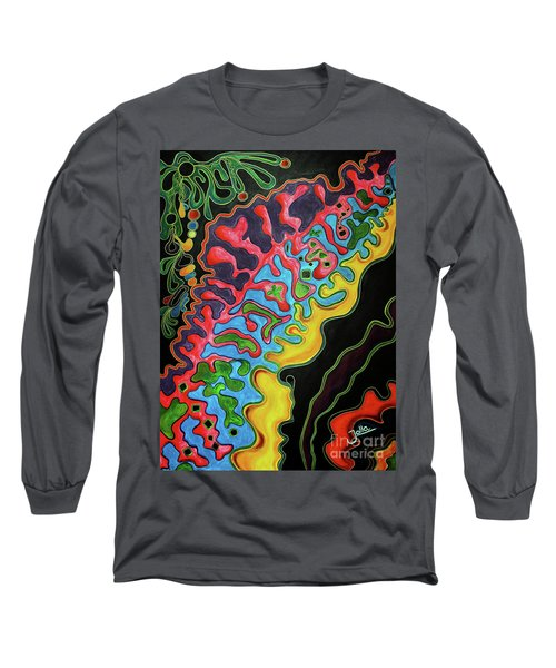 Long Sleeve T-Shirt featuring the painting Abstract Thought by Jolanta Anna Karolska