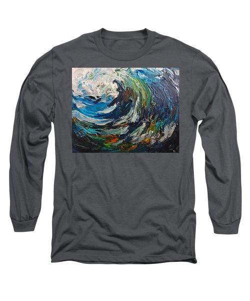Abstract Wild Wave  Long Sleeve T-Shirt
