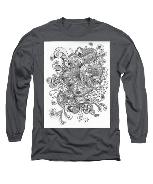 Abstract2 Long Sleeve T-Shirt by Quwatha Valentine