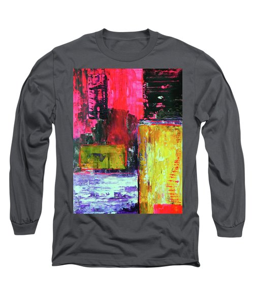 Long Sleeve T-Shirt featuring the painting Abstractor by Everette McMahan jr