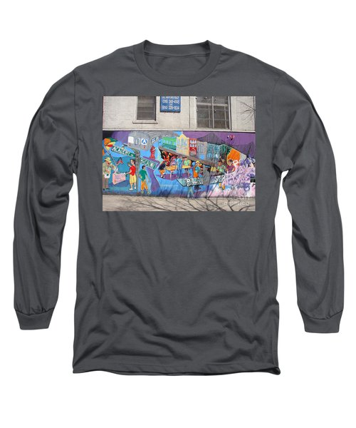 Long Sleeve T-Shirt featuring the photograph Academy Street Mural by Cole Thompson