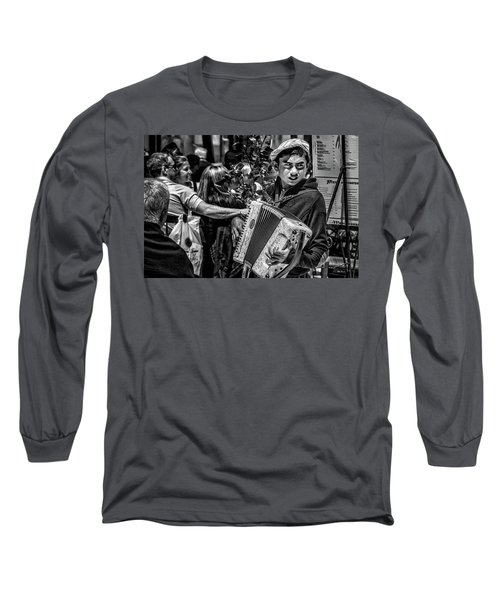 Accordion Player Long Sleeve T-Shirt by Patrick Boening