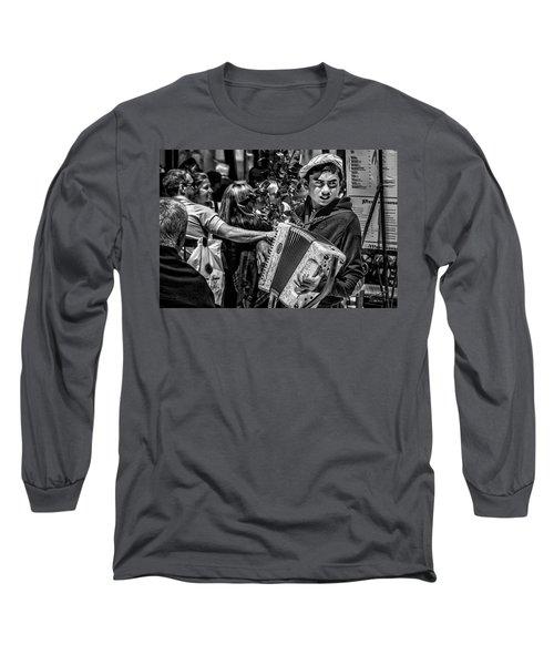 Accordion Player Long Sleeve T-Shirt