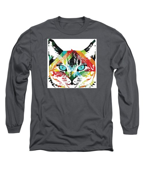 Acid Cat Dream By Robert R Long Sleeve T-Shirt