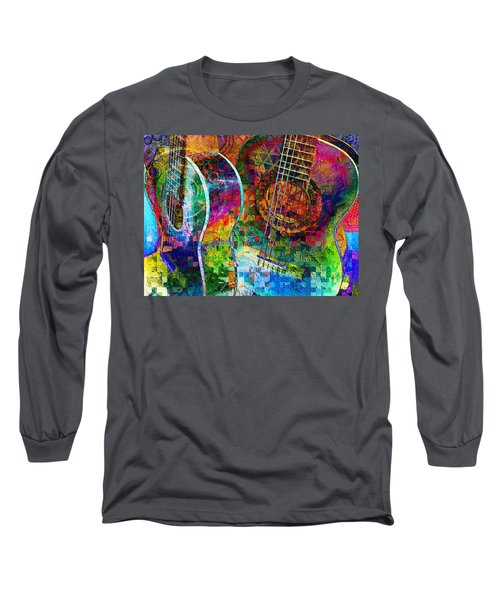 Acoustic Cubed Long Sleeve T-Shirt