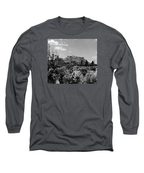 Long Sleeve T-Shirt featuring the photograph Acropolis Black And White by Robert Moss