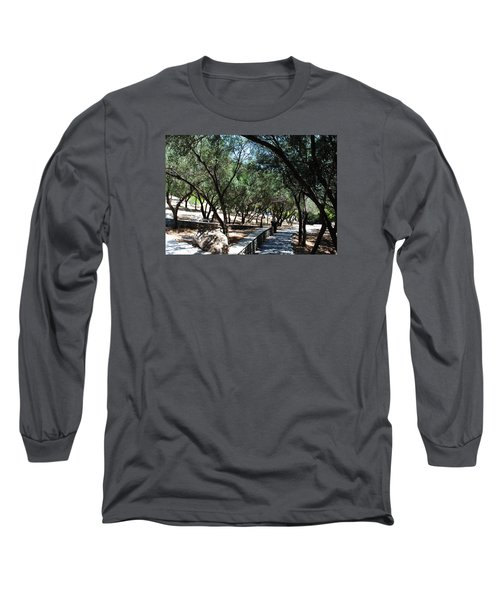 Long Sleeve T-Shirt featuring the photograph Acropolis Trail by Robert Moss