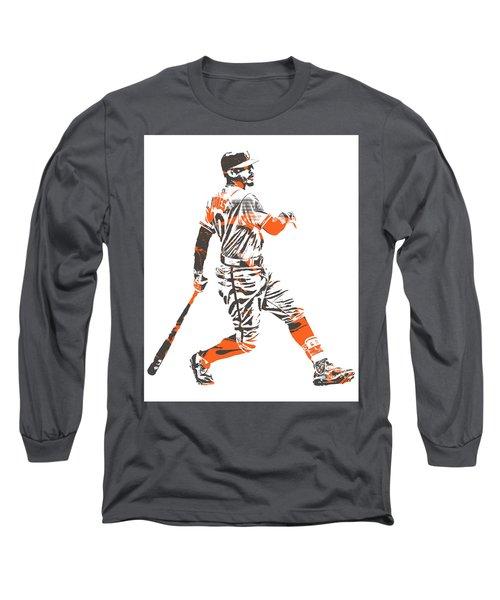 Adam Jones Baltimore Orioles Pixel Art 11 Long Sleeve T-Shirt