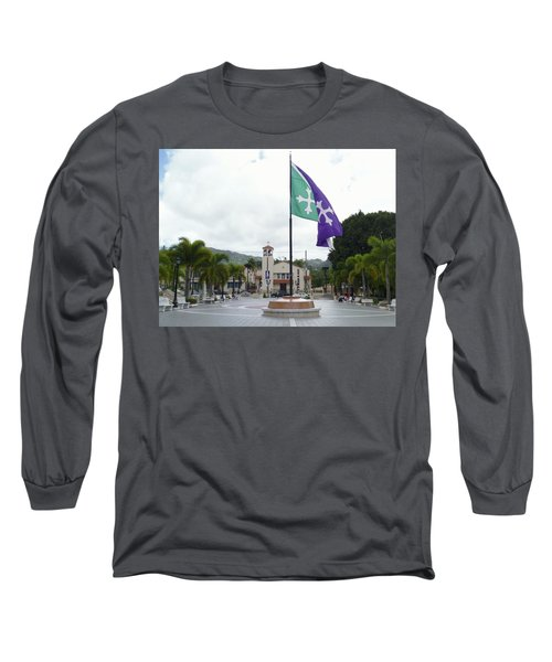 Adjuntas, Puerto Rico Flag Long Sleeve T-Shirt