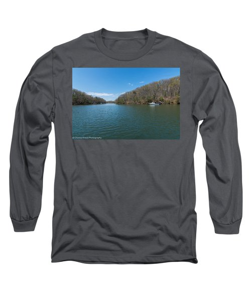Long Sleeve T-Shirt featuring the photograph Weeks Creek At Admiral Heights by Charles Kraus