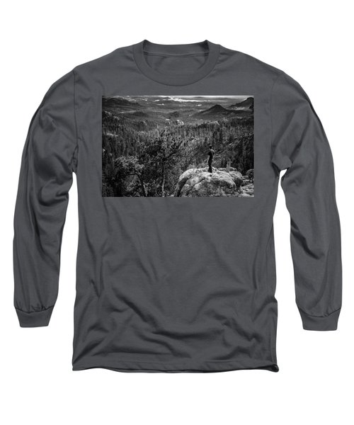 Needles Point South Dakota Long Sleeve T-Shirt
