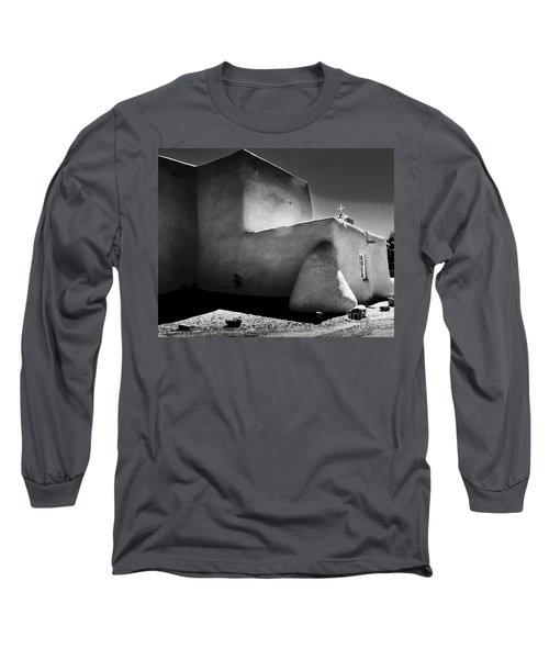 Adobe Church In B-w Long Sleeve T-Shirt