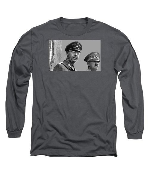 Adolf Hitler And Gestapo Head Heinrich Himmler Watching Parade Of Nazi Stormtroopers 1940-2015 Long Sleeve T-Shirt by David Lee Guss