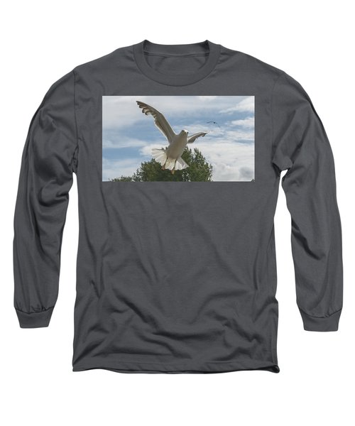 Adult Seagull In Flight Long Sleeve T-Shirt