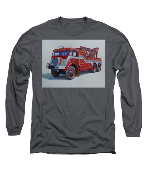 Long Sleeve T-Shirt featuring the painting Aec Militant Dennis's. by Mike Jeffries