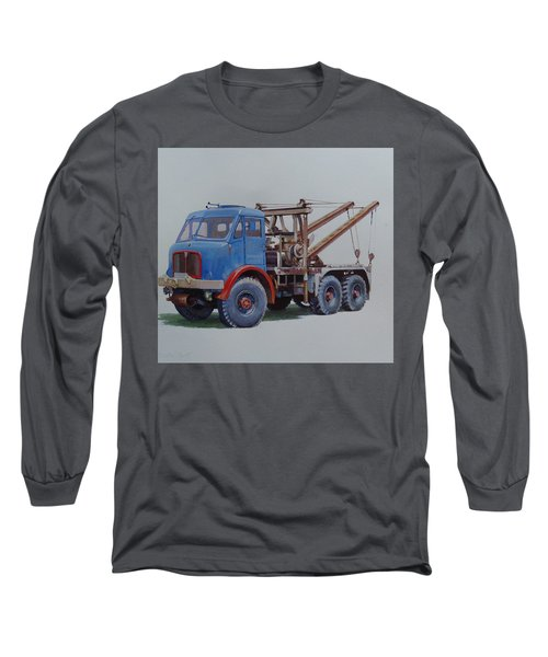 Long Sleeve T-Shirt featuring the painting Aec Militant Wrecker. by Mike Jeffries