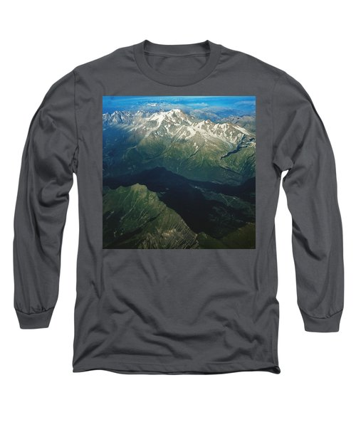 Aerial Photograph Of The Swiss Alps Long Sleeve T-Shirt