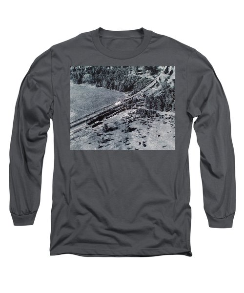 Aerial Train Wreck Long Sleeve T-Shirt