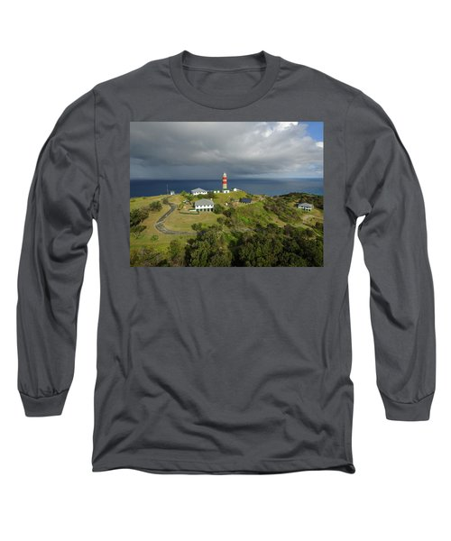Aerial View Of Cape Moreton Lighthouse Precinct Long Sleeve T-Shirt