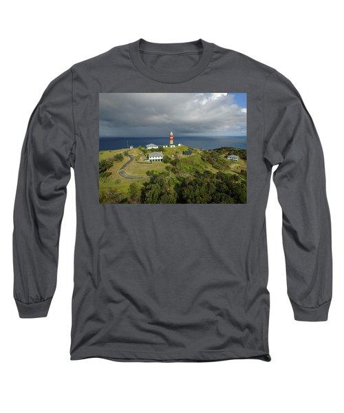 Aerial View Of Cape Moreton Lighthouse Precinct Long Sleeve T-Shirt