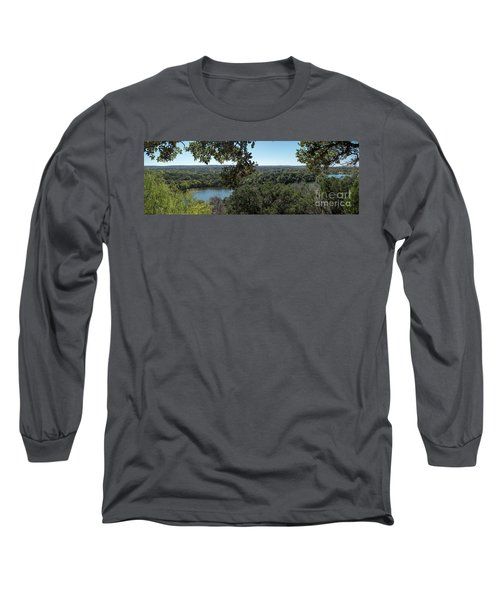 Aerial View Of Large Forest And Lake Long Sleeve T-Shirt