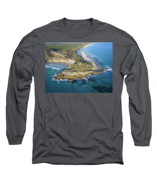Aerial View Of North Point, Moreton Island Long Sleeve T-Shirt