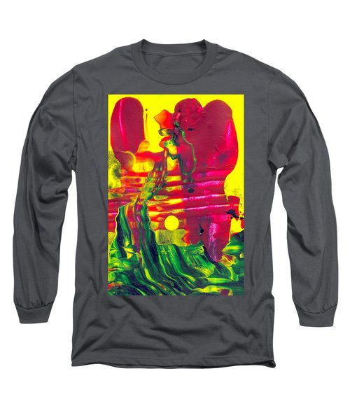 Africa - Abstract Colorful Mixed Media Painting Long Sleeve T-Shirt