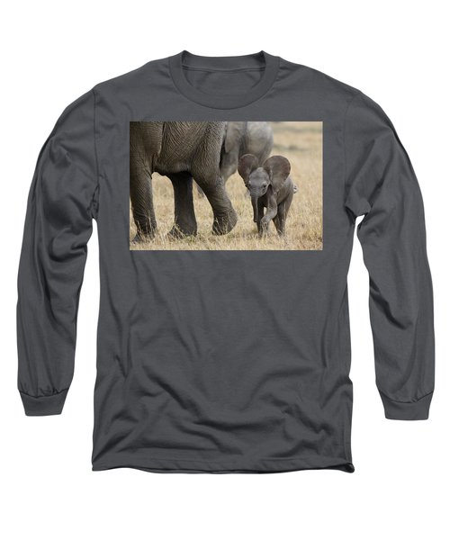 African Elephant Mother And Under 3 Long Sleeve T-Shirt