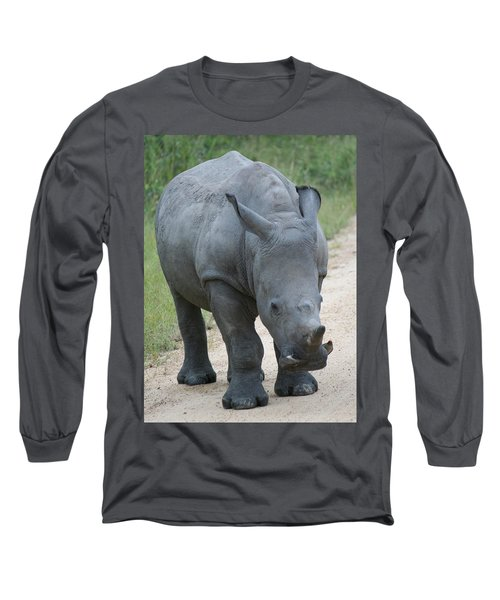 African Rhino Long Sleeve T-Shirt